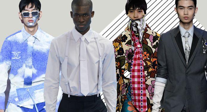 Van links naar rechts: Louis Vuitton (2x), Walter Van Beirendonck en Dior.