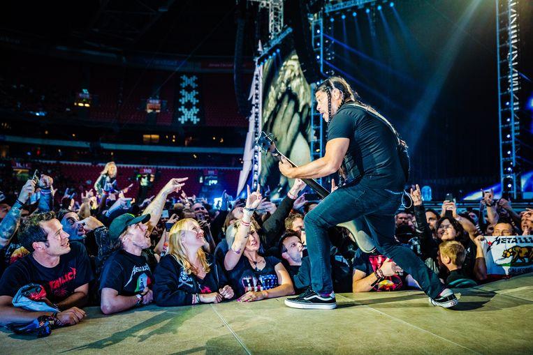 Op 11 juni gaf de Amerikaanse heavy metal band Metallica een optreden in de Johan Cruijff Arena in Amsterdam. Beeld Ben Houdijk