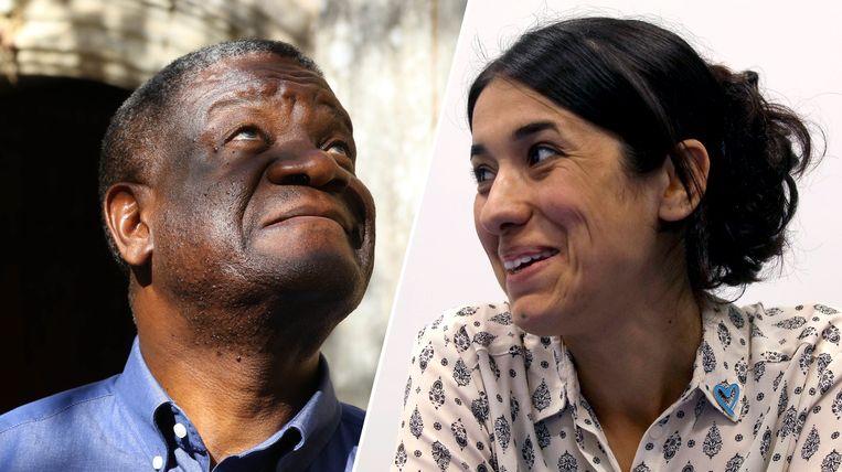 Denis Mukwege en Nadia Murad.