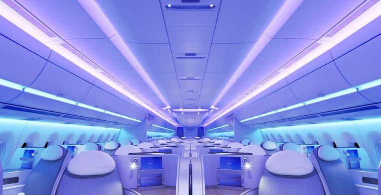 De nieuwe Airspace-cabine van Airbus.