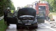 Wagen vat vuur in Hezewijk