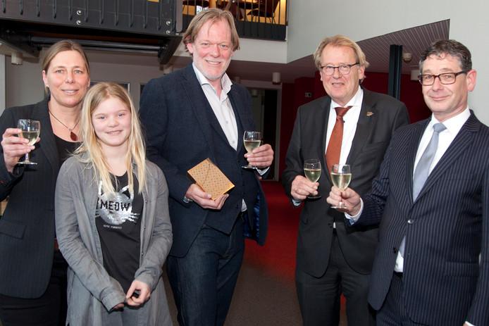 Selma, Jules en Tom Hazenberg, Jaap Smit en Kees van Velzen.