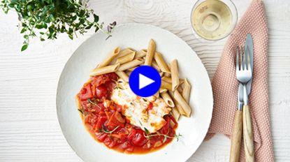 Dit gezonde pastagerecht met vis eet je zonder een greintje schuldgevoel