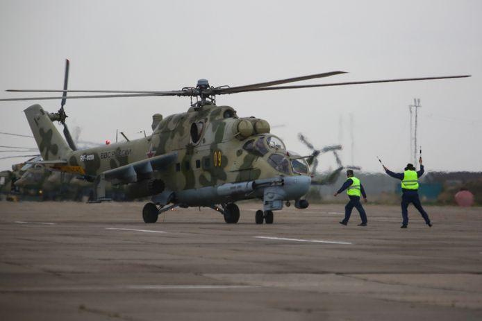 Een Russische Mi 24-helikopter