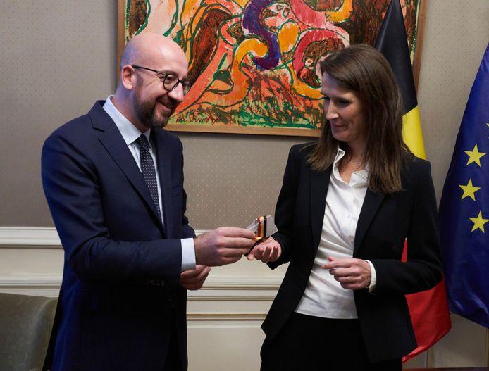 Passation de pouvoir entre Charles Michel et Sophie Wilmès