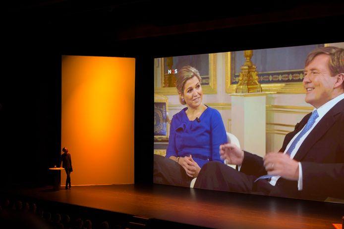 Sander van der Pavert in zijn theaterprogramma Lucky Live in het Zuiderstrandtheater in Den Haag