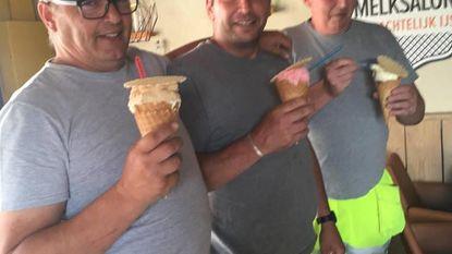 Even een ijsje, en dan weer aan de slag!