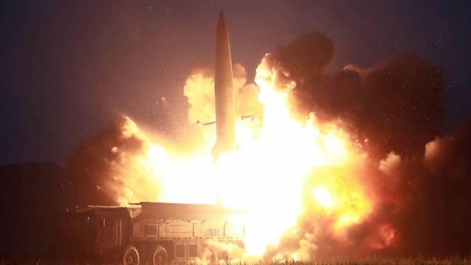 Noord-Korea toont straffe beelden van laatste rakettest