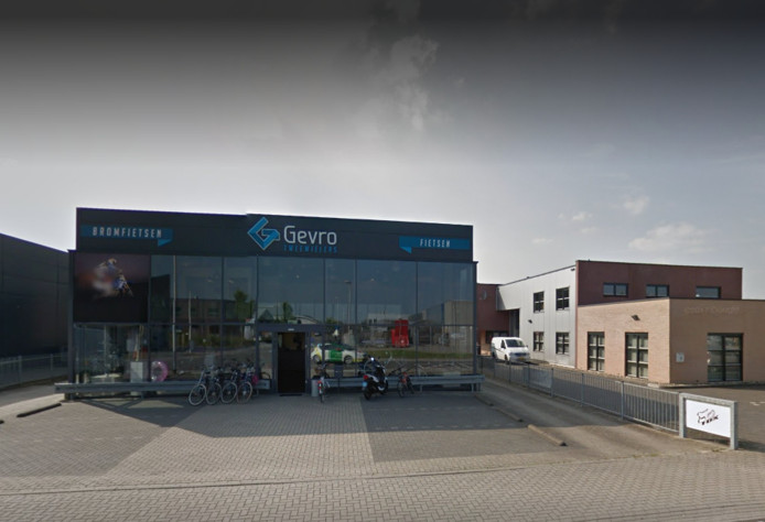 Het pand van Gevro Tweewielers in Vroomshoop.