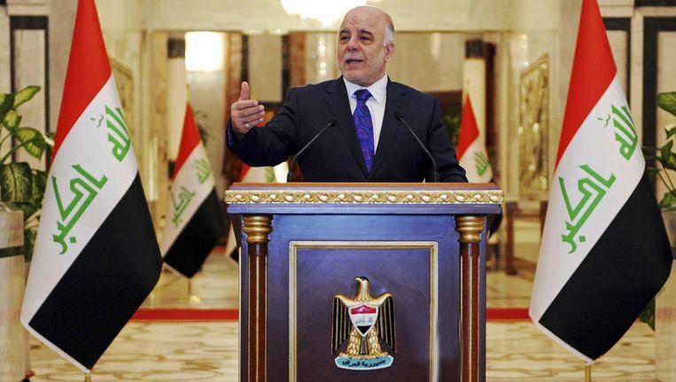 De Iraakse premier Haider al-Abadi. Beeld ap