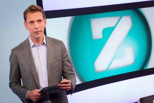 Peter van Zadelhoff in de studio van RTL Z.