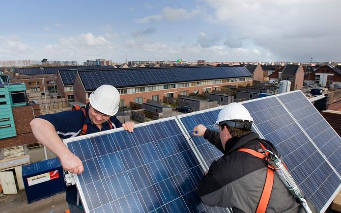 14 procent van de koophuizen zijn inmiddels voorzien van zonnepanelen.