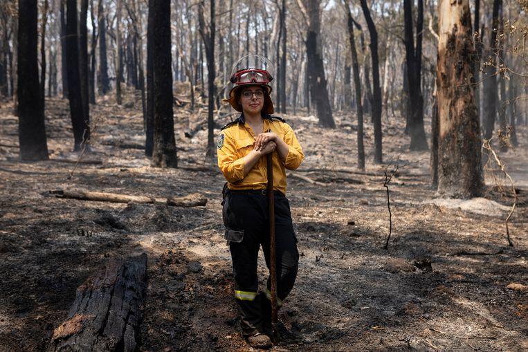 Plaatsvervangend brandweercommandant Kimberly Collante (24), moeder van twee kinderen, woont in Mittagong.  Beeld null