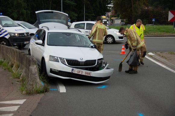 Door het ongeval was de rijbaan versperd en stonden er al snel ellenlange files op de N403.