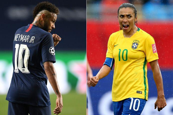 Neymar et Marta