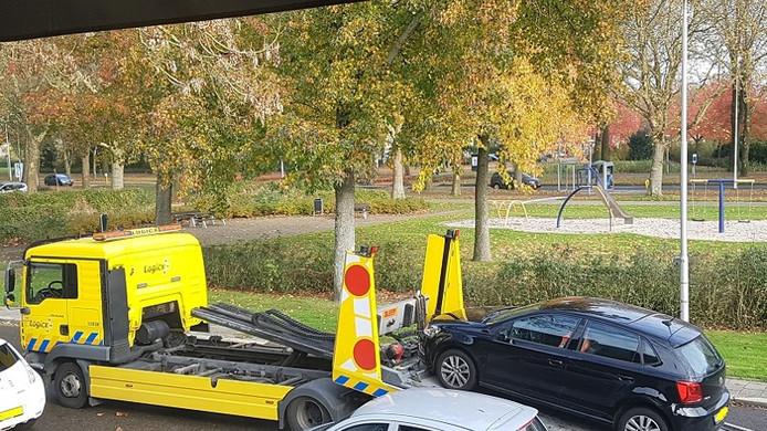 De in beslag genomen auto in Eindhoven.