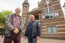 Han Koopmans (rechts) en Jan van Doorn, bewoners van de Heusdensebaan in Oisterwijk, ageren al jaren tegen The Inside.