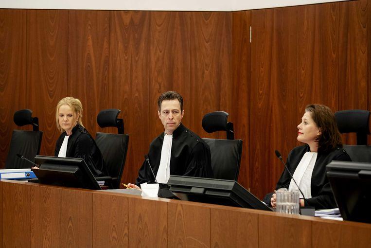 Het gerechtshof tijdens het hoger beroep in de helikopterzaak.  Beeld ANP
