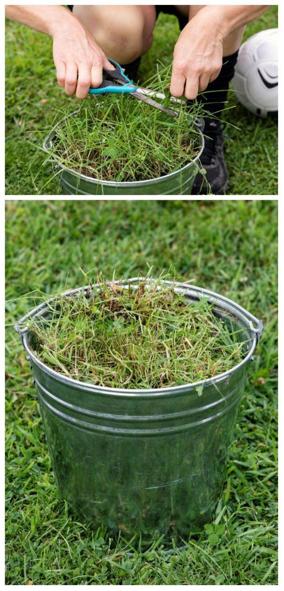 Grasstoeltjes maken voor een natuurlijke voetbaltribune
