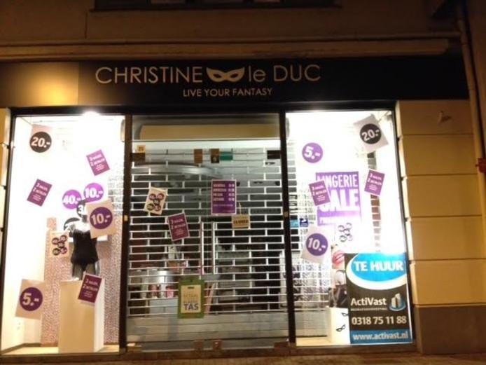 Erotiek Outlet Christine Le Duc In Ede Definitief Dicht Ede