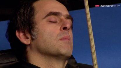 Snookerlegende O'Sullivan valt in slaap tijdens wedstrijd