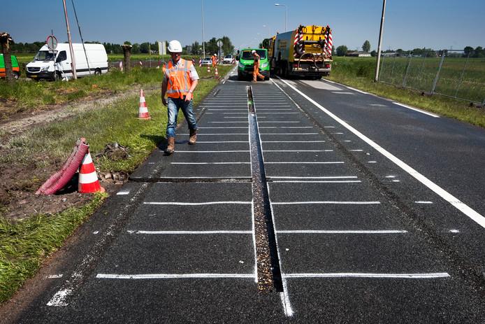 Vorig jaar werden in de N401 bij Kockengen 48 zonnepanelen geplaatst.