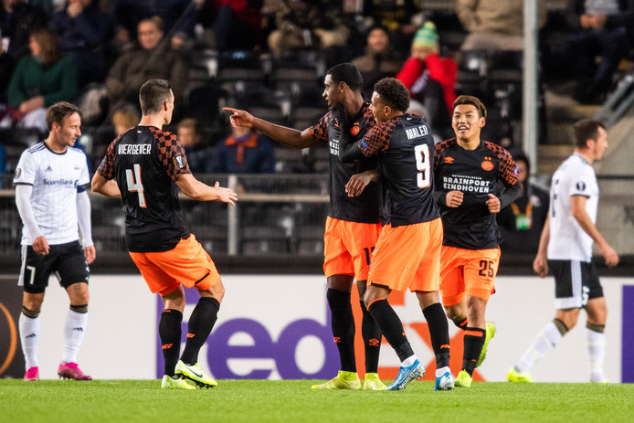 Pablo Rosario bezorgde PSV een 0-1 voorsprong in het uitduel met Rosenborg in Noorwegen.