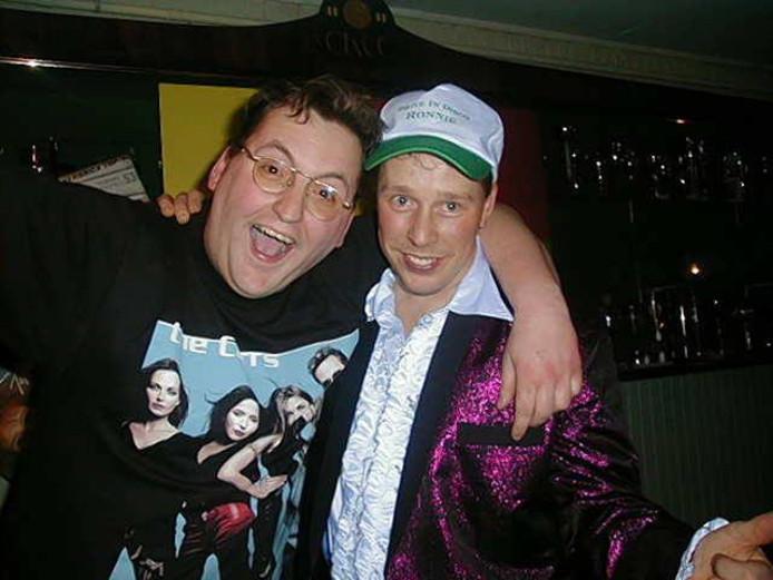 Jeroen Hofmans (links) en een vriend.