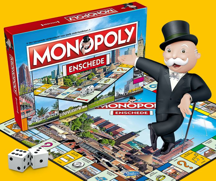 Enschede krijgt binnenkort een eigen (tweede) Monopolyspel.