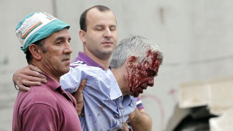Een foto van de gewonde machinist Francisco Jose Garzon Amo Beeld afp
