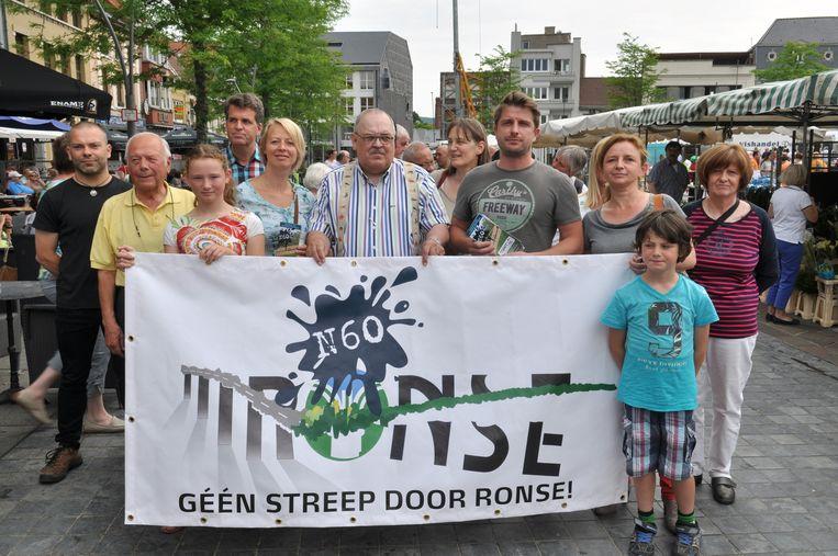 Dit weekend werd er actie gevoerd op de Markt van Ronse.