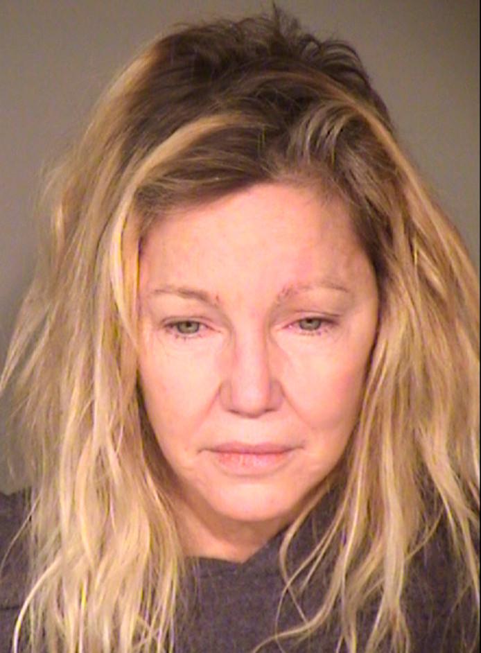 Heather Locklear lors de son arrestation en juin dernier.