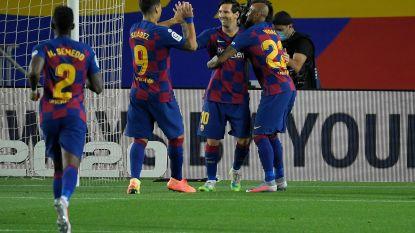 Ansu Fati en Messi loodsen Barcelona zonder veel glans voorbij Leganés en zetten zo Real weer onder druk
