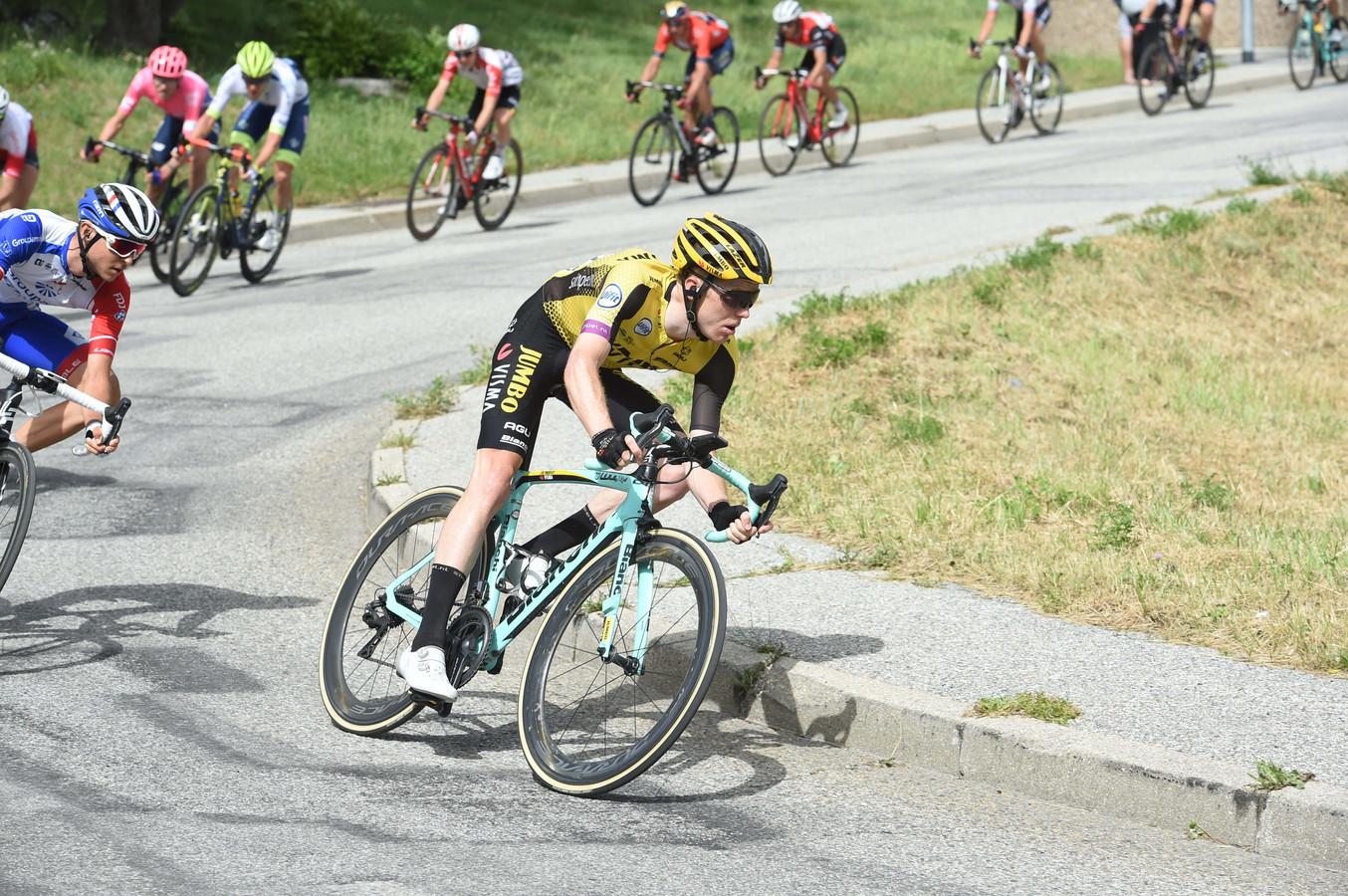 Steven Kruijswijk in de etappe van vrijdag.