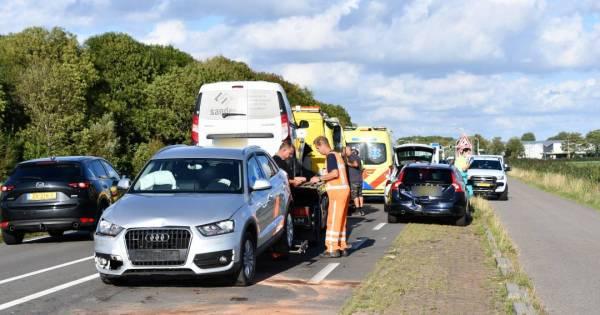 Twee ongelukken op N59 bij Nieuwerkerk.