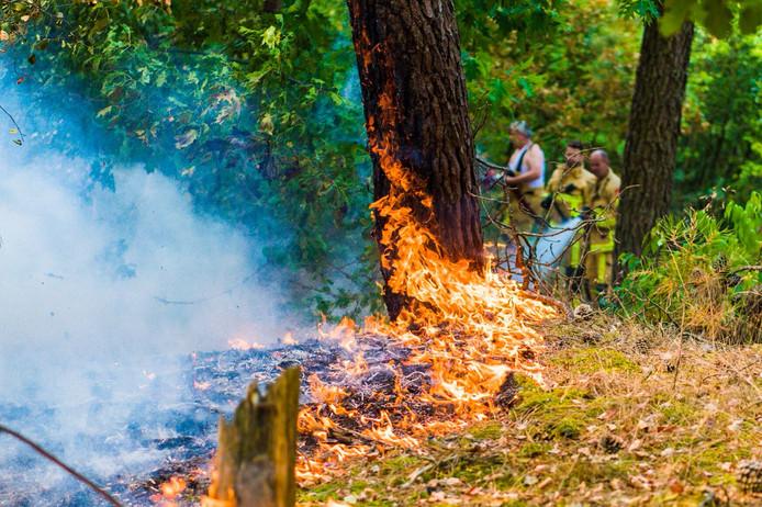 Brandweer blust het vuur in Gerwen.