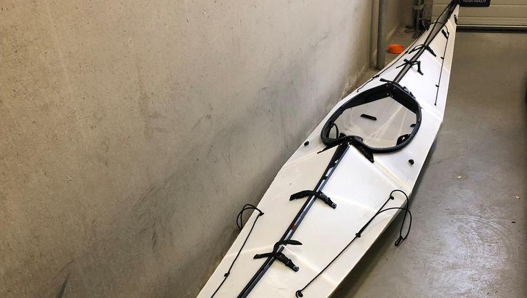 De kayak van Arjen Kamphuis, voordat hij verdween. Beeld anp