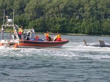 Zeilboot omgeslagen bij Wolphaartsdijk