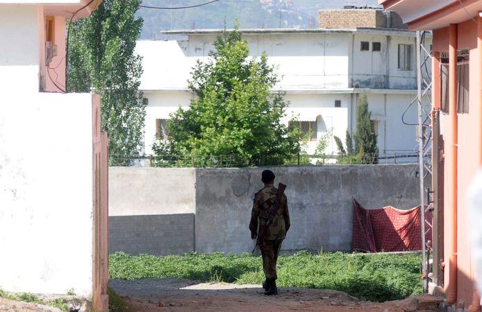 Hier zou Osama bin Laden zes jaar verbleven hebben en vond hij de dood.