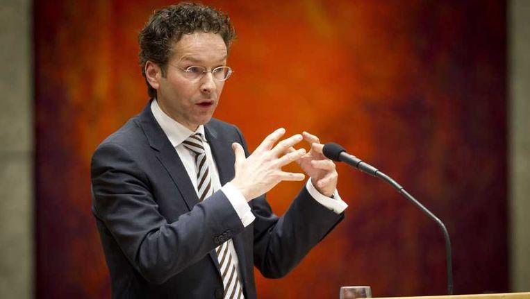 Minister Jeroen Dijsselbloem van Financien in de Tweede Kamer tijdens het debat over de over de nationalisatie van SNS Reaal Beeld anp