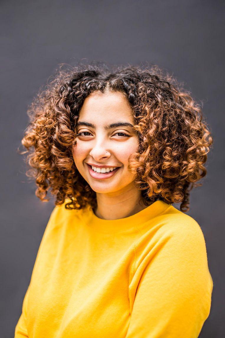 Sarah Salah: 'Leren ging wat moeilijker, maar ik wilde toch graag meedoen.' Beeld Eva Plevier
