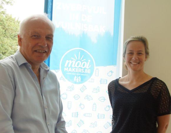 De stad Zoutleeuw  en Griet Smeesters zijn blij met de steun van Mooimakers.