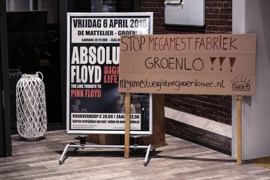 Protest tegen de mestvergister