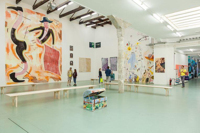 Interieur van W139 tijdens de tentoonstelling Summer Jam in augustus 2018. Beeld Chun-han Chiang/W139