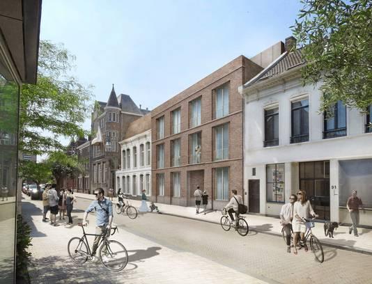 Dit ontwerp, gemaakt voor de Stadsontwikkelingsmaatschappij, is van de baan.