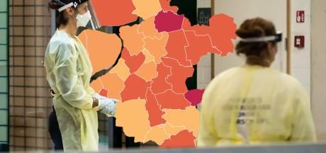 KAART | Coronacijfers blijven dalen in Oost-Nederland, slechts drie gemeenten kleuren rood op de kaart
