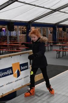 Geen vorst, wel schaatsen in Cuijk