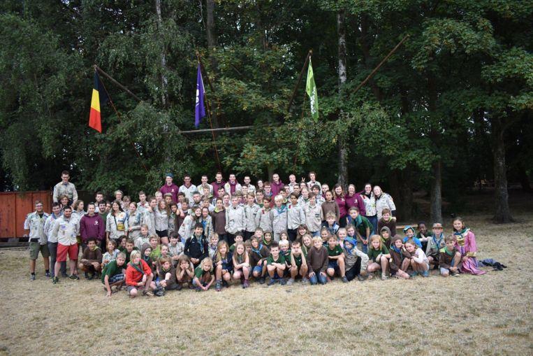 Scouts Zoersel trekt normaal met een honderdtal leden en begeleiders op kamp.
