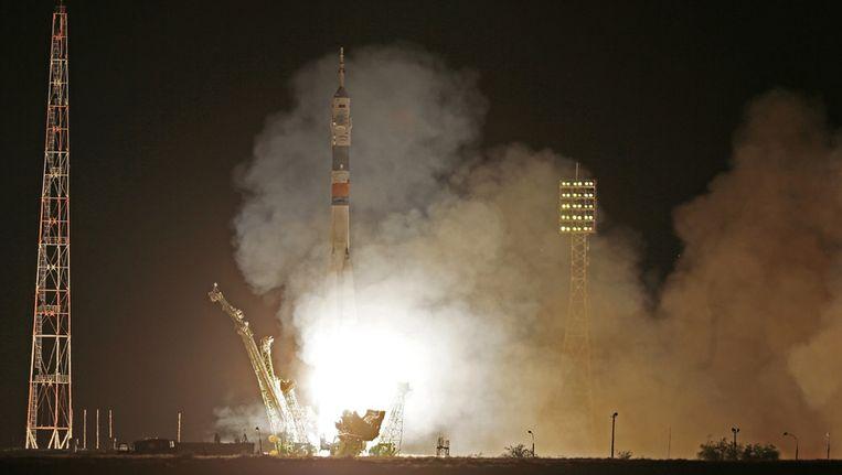 Een nieuwe crew vertrekt naar het ISS. Beeld ap