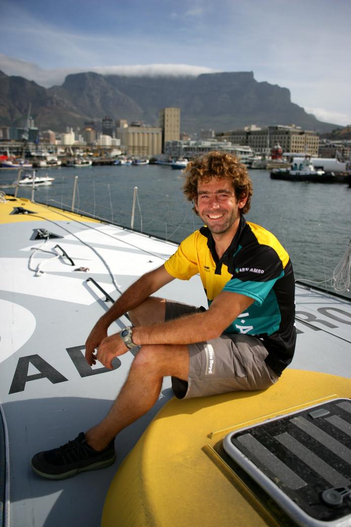 Hans Horrevoets tijdens de stop-over in Kaapstad van de Volvo Ocean Race 2005-2006.